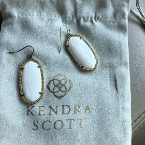 Kendra Scott White Elle Earrings//